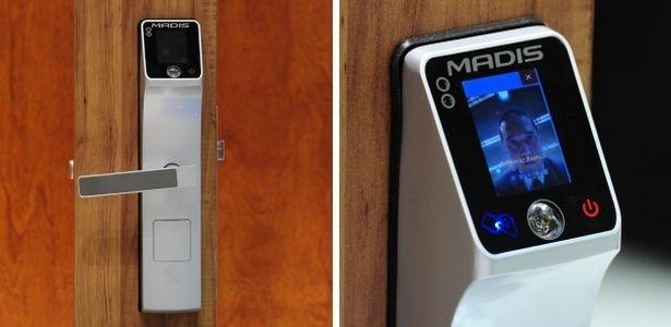 Fechadura eletrônica MD 5709 abre portas somente para rostos cadastrados - Junior Lago/UOL
