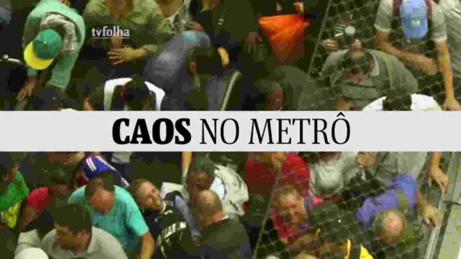 Em dia de greve dos rodoviários em São Paulo, estações do metrô ficaram lotadas, obrigado usuários a se apertarem para conseguir chegar aos trens na volta para casa - undefined