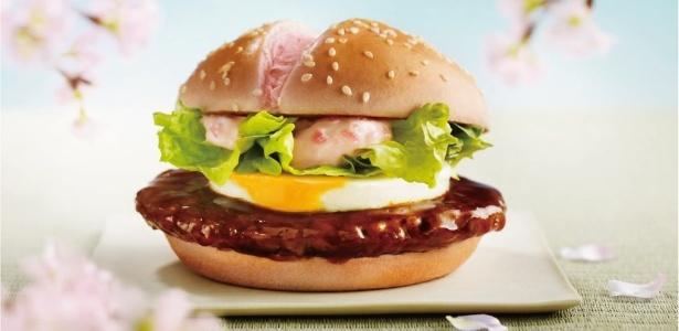 O Sakura Teritama é um hambúrguer de carne de porco empanado com molho Teriyaki, recheado com ovo cozido, alface, rabanete e maionese feita com sakura (flor de cerejeira). O lanche é oferecido somente na primavera