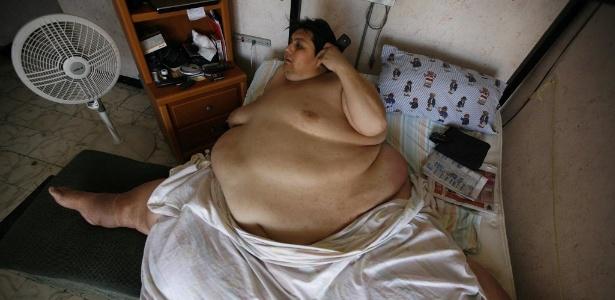 Manuel Uribe, 48, foi considerado o homem mais gordo do mundo pelo Guinness, chegando a pesar 597 kg - Tomas Bravo/Reuters