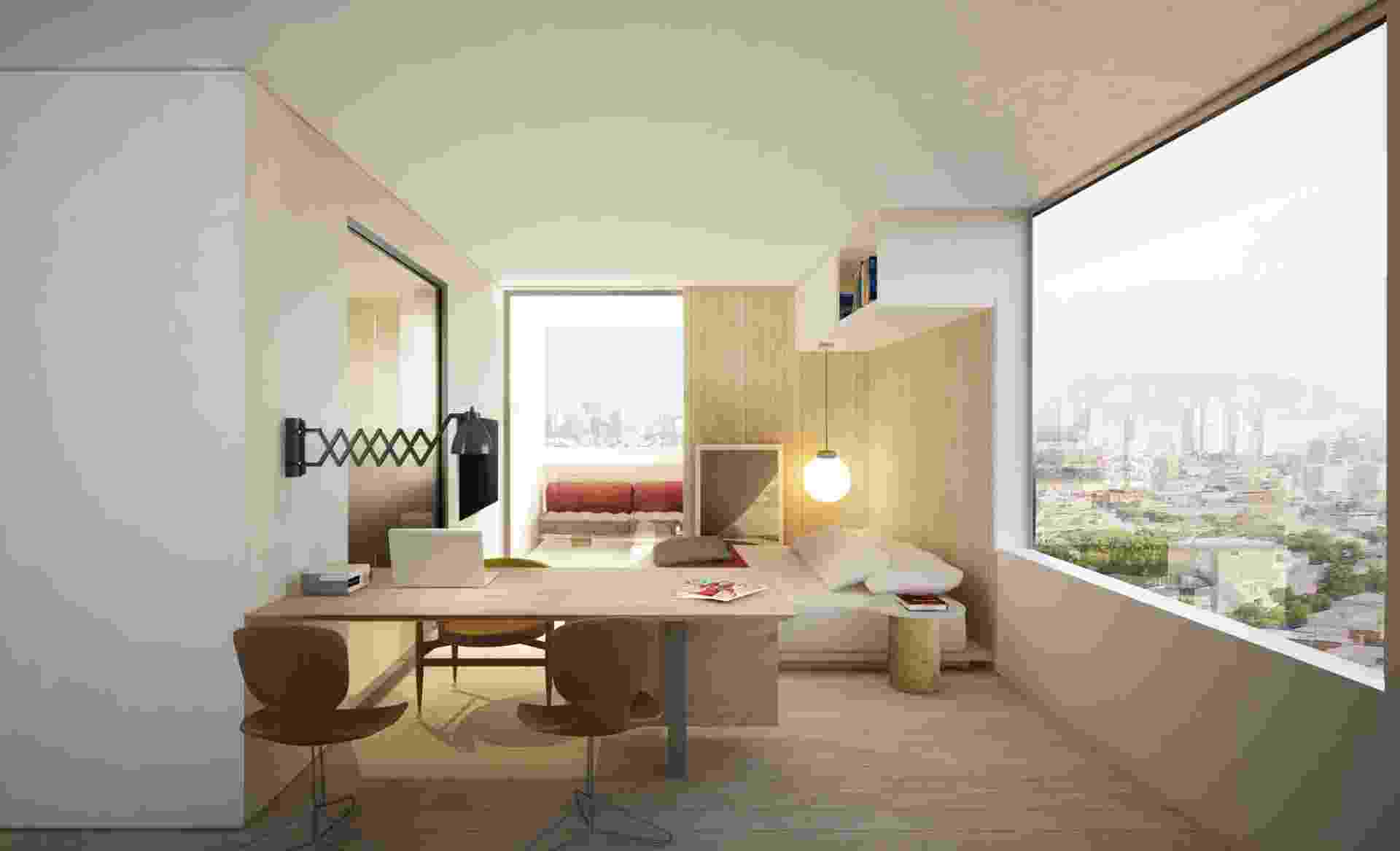 Arquiteto de luxo cria projeto de quitinete em São Paulo 59a1fc64db2f9