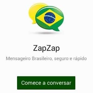 Tela do ZapZap para Android; desenvolvedor diz que aplicativo é uma versão modificada do Telegram