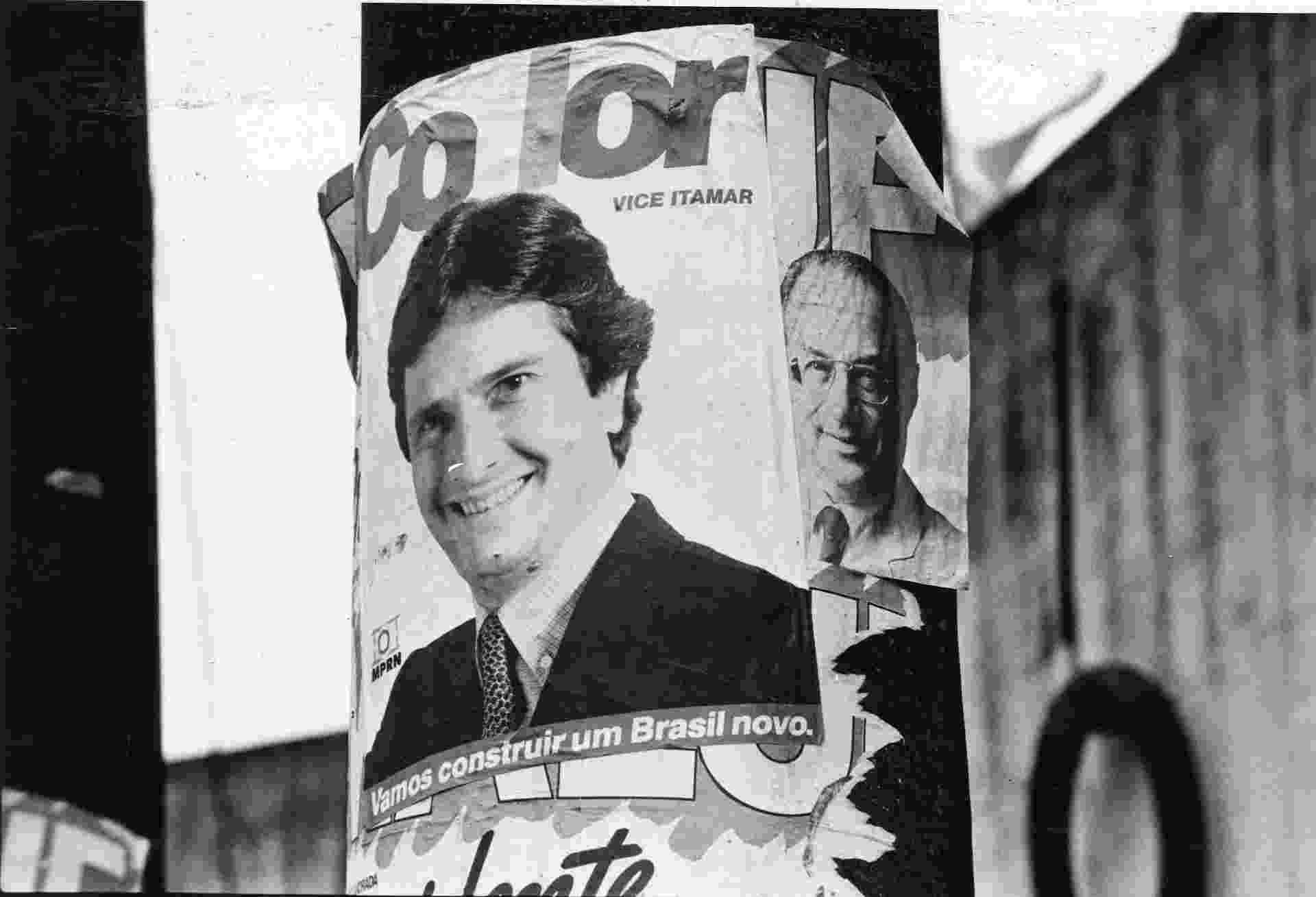 29.mai.2014 - Nas eleições presidenciais de 1989, Maluf foi derrotado no primeiro turno e, no segundo turno, decidiu apoiar Fernando Collor, que tinha Lula como adversário - Vidal Cavalcante/Folhapress - 05.dez.1989