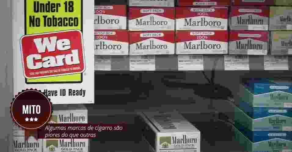 Mitos e verdades sobre o cigarro - Arte UOL
