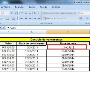 Fotos: Excel: planilha avisa quando prazo está próximo de