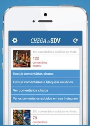 Aplicativo Chega de SDV ajuda a filtrar e excluir comentários feitos no Instagram