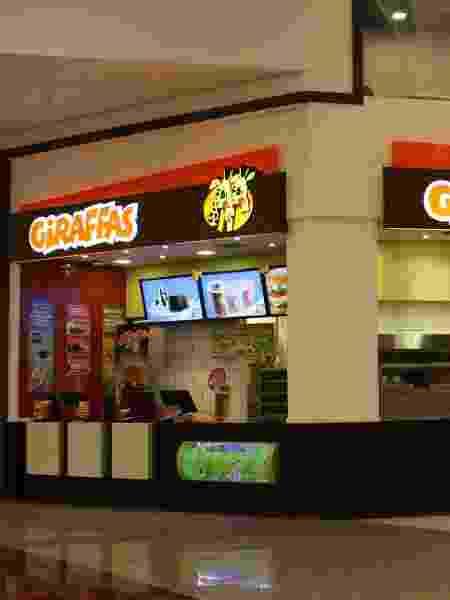 Franquia Giraffas, fast-food de refeições e hambúrguer - Divulgação
