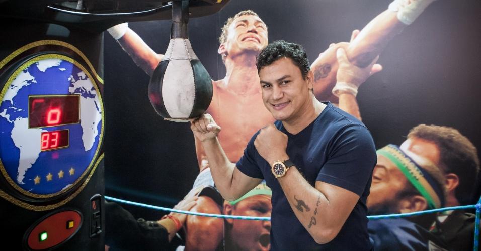 O ex-boxeador Acelino 'Popó' Freitas transformou em franquia sua marca de academia de lutas, Popó Fight Club; a novidade foi apresentada na ABF Franchising Expo, feira que acontece em São Paulo entre hoje e sábado (7)