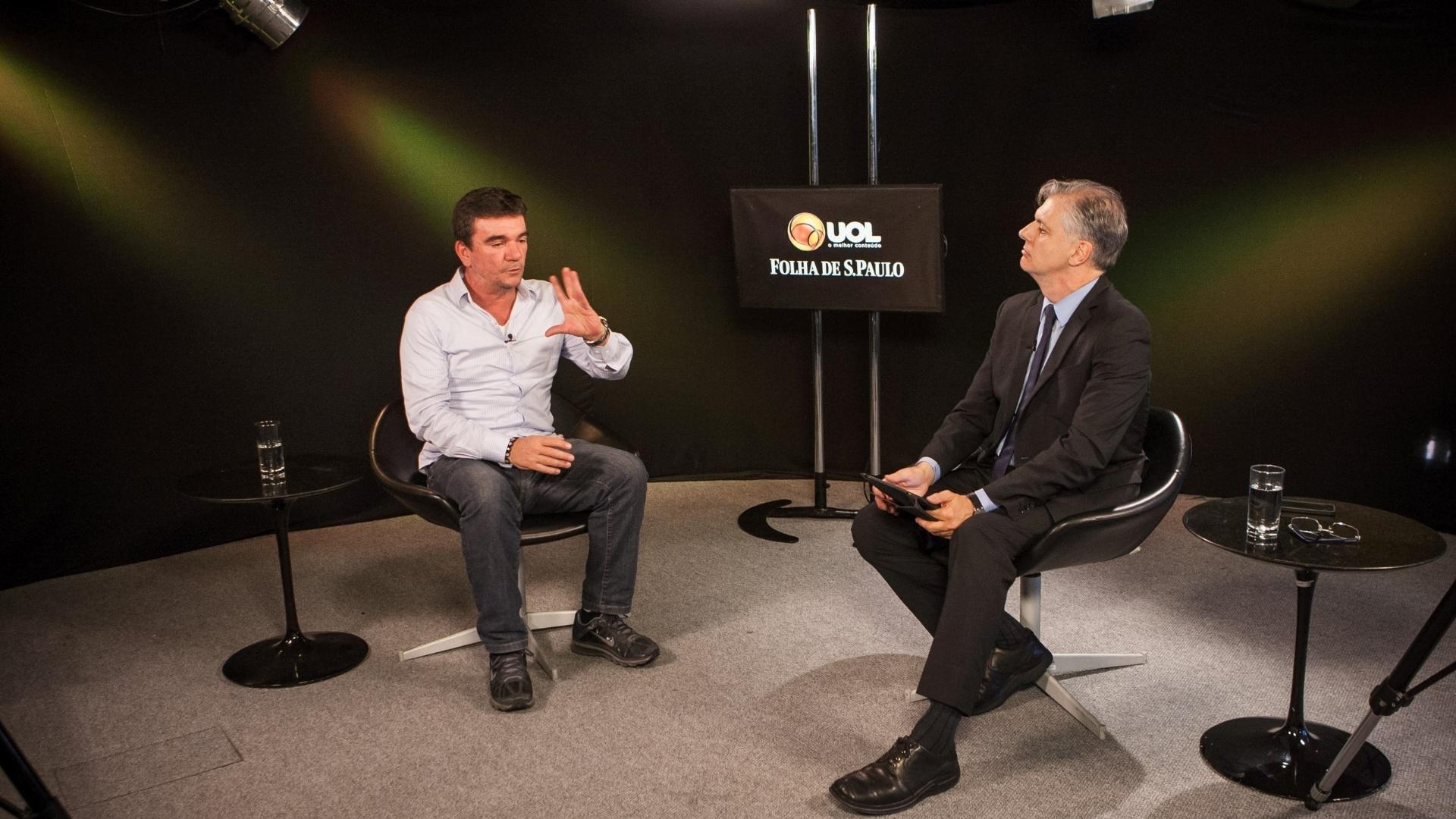 Ex-presidente do Corinthians e hoje conselheiro vitalício do clube concedeu entrevista ao UOL e à Folha em 4.jun.2014. A gravação ocorreu no estúdio do UOL em São Paulo..