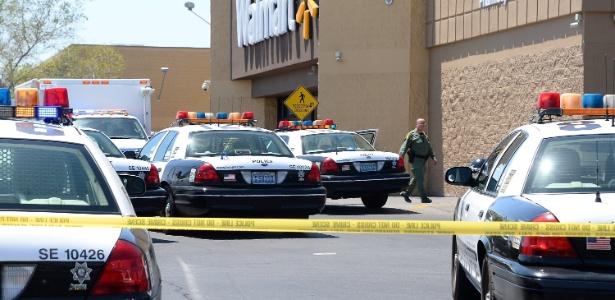 Tiroteio em Las Vegas começou em uma pizzaria e se continuou em um supermercado da rede Walmart - Ethan Miller/Getty Images/AFP