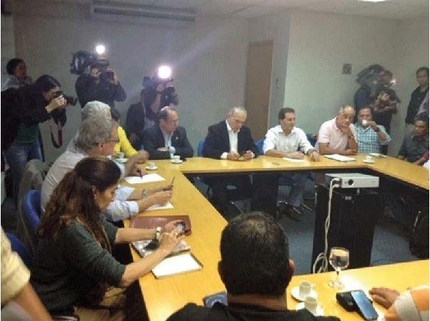 9.jun.2014 - Audiência de conciliação entre representantes do Metrô de São Paulo e metroviários termina sem acordo