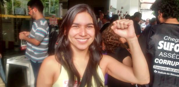 Celina Maranhão, uma das diretoras do Sindicato dos Metroviários, foi demitida pelo Metrô-SP - Wellington Ramalhoso/UOL