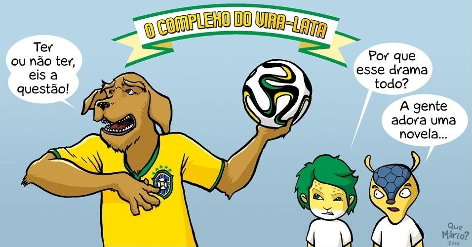 6.jun.2014 - O chargista Que Mário? representa a dúvida de que se a Copa do Mundo 2014 acontecerá ou não no Brasil