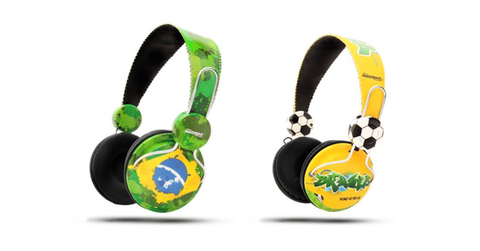 Fones de Ouvido coleção Brasil - Maxprint