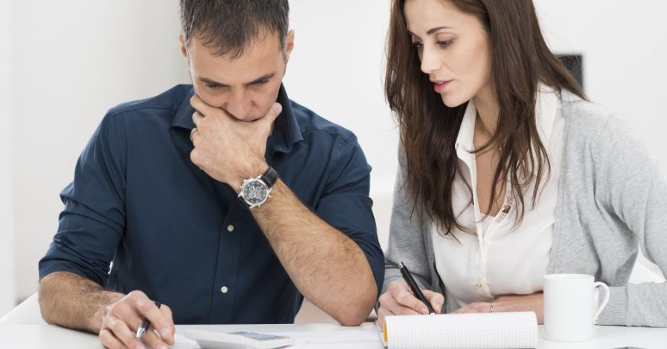 casal, orçamento, finanças, economia, ícone, calculadora, dívidas