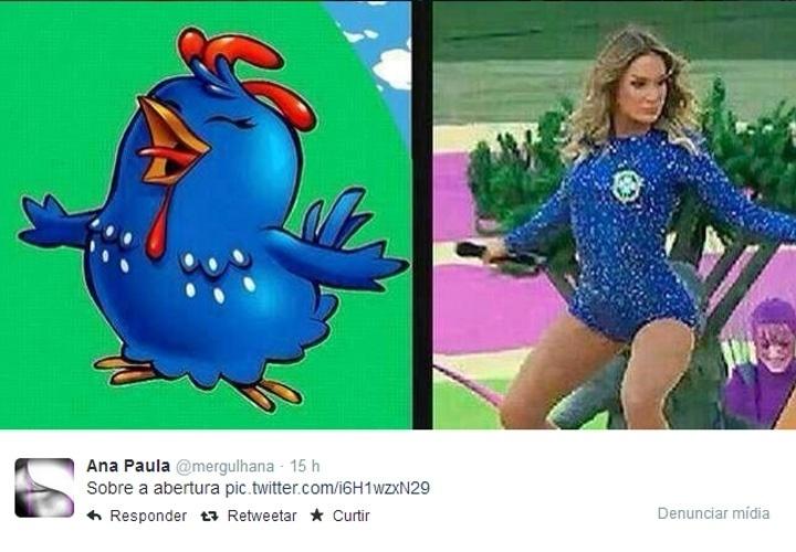 A abertura da Copa do Mundo, realizada no Itaquerão na quinta-feira (12), gerou repercussão nas redes sociais. Muitos usuários criticaram a cerimônia, que custou R$ 18 milhões ao Comitê Olímpico Local, e outros aproveitaram a ocasião para fazer piadas como esta acima