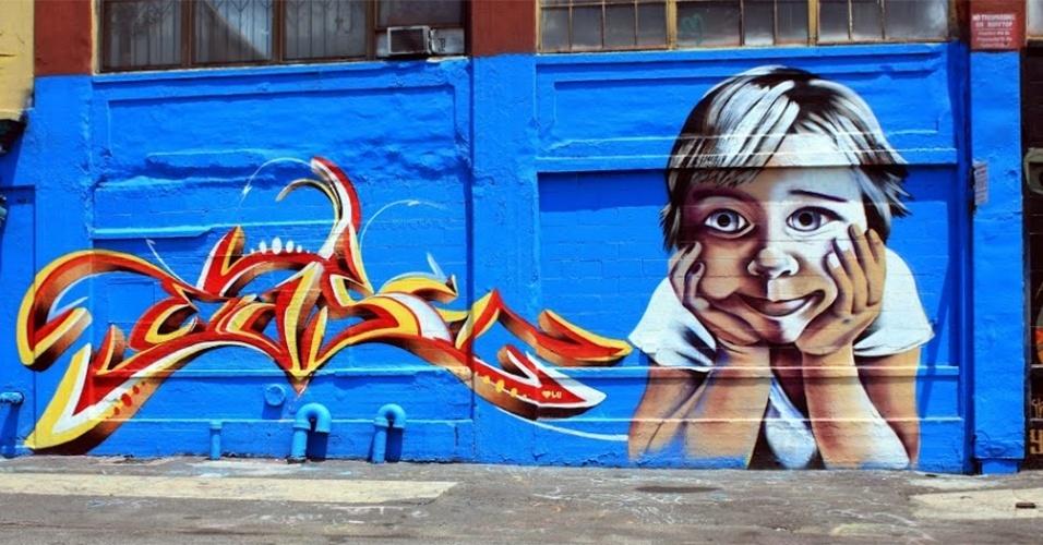 Grafite feito pelo artista Ego Crew no 5 pointz, região de Nova York (Estados Unidos) conhecida por ser uma galeria de arte de rua a céu aberto