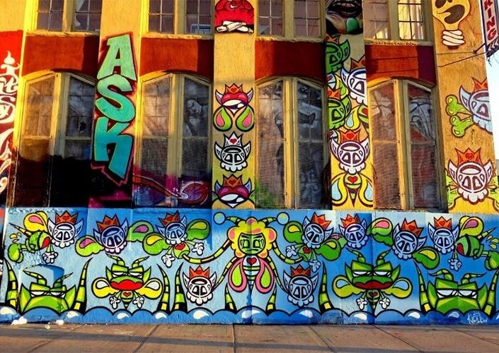 Grafite feito pelo artista Kide Lew no 5 pointz, região de Nova York (Estados Unidos) conhecida por ser uma galeria de arte de rua a céu aberto