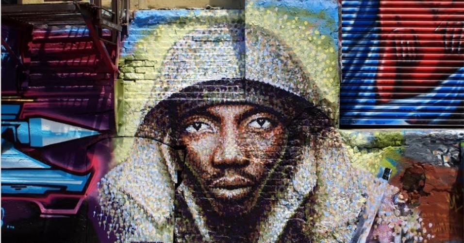 Obra feita pelo artista Jimmy C no 5 pointz, região de Nova York (Estados Unidos) conhecida por ser uma galeria de arte de rua a céu aberto