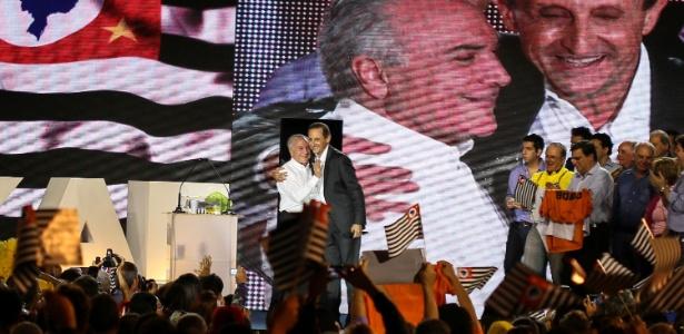 Temer e Skaf durante campanha de 2014