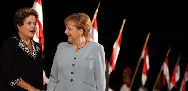 A presidente Dilma Rousseff recebeu a chanceler alemã Angela Merkel em Brasília em junho