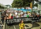 Protesto contra a Copa no Rio tem um manifestante detido pela PM (Foto: Reprodução facebook/ Rede de Comunidades e Movimentos contra a Violência)