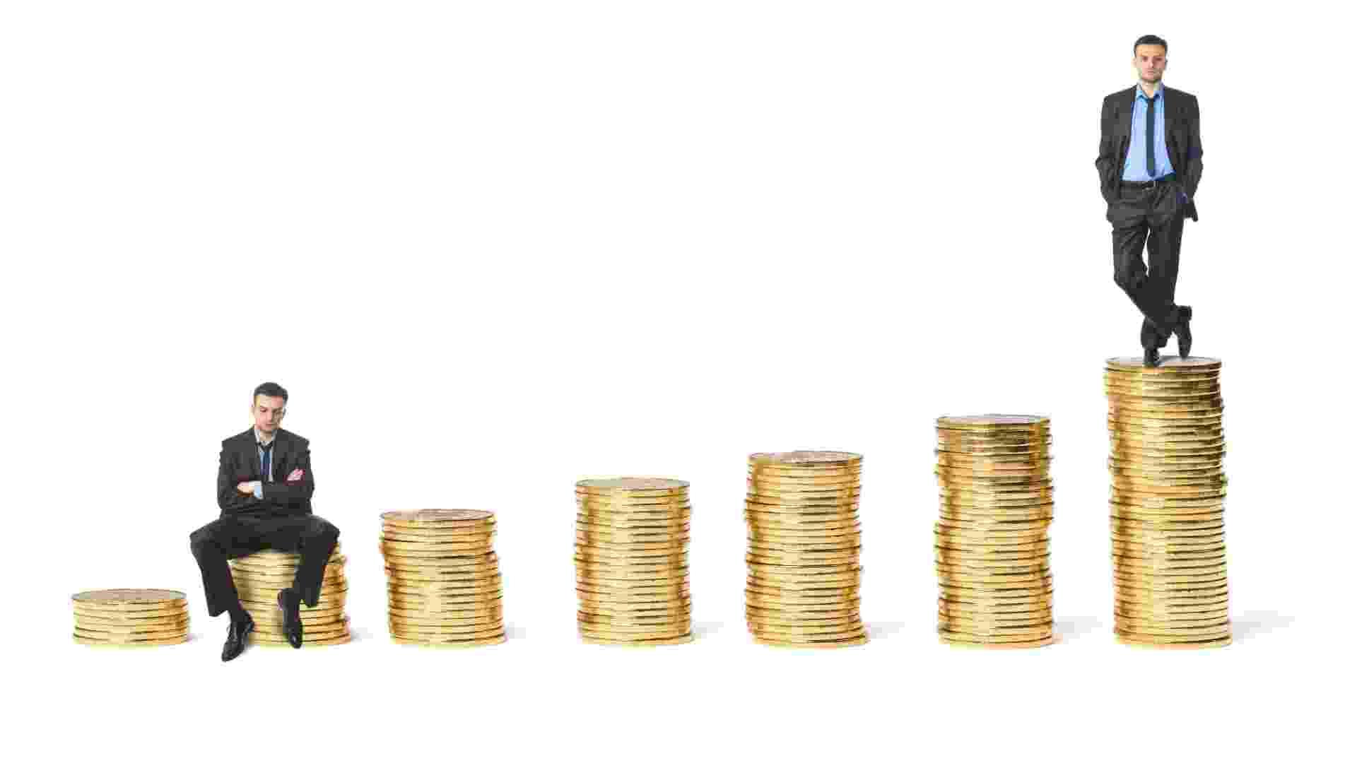 riqueza, homem rico, moeda, poupança, economia, finanças, ícone - Thinkstock