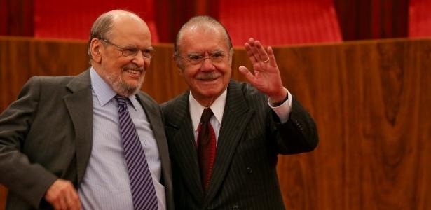 Sepúlveda Pertence (esq,) reformulou o Ministério Público na gestão de Sarney