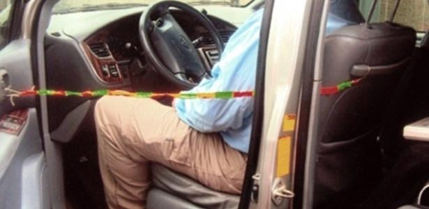 A invenção de Andrew Pelham impede que pais esqueçam crianças dentro do carro - Andrew Pelham/Reprodução