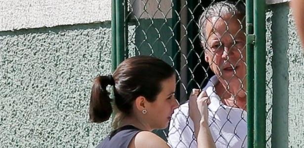Ex-ministro José Dirceu quando estava preso em Brasília pelo mensalão
