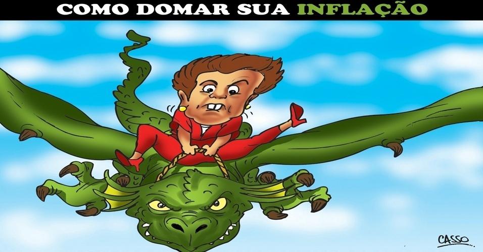 2.jul.2014 - O chargista Casso brinca com a instabilidade da inflação no Brasil