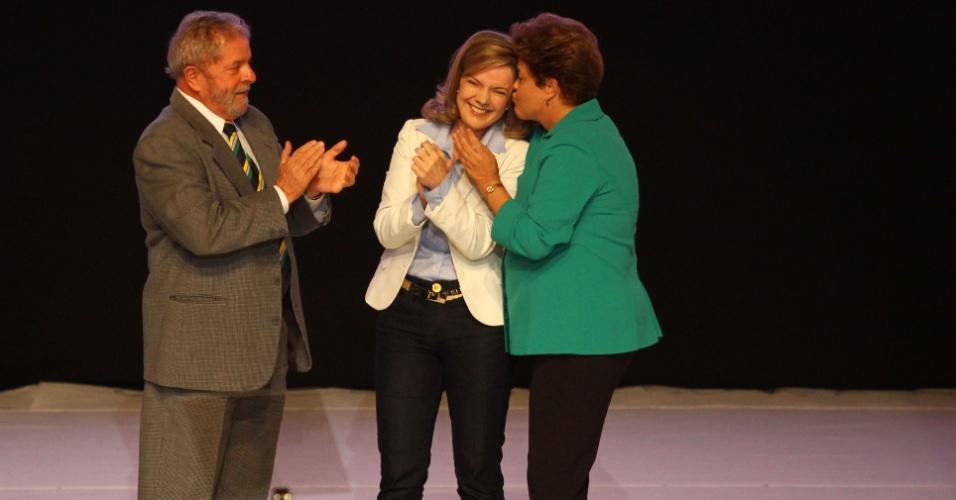 3.jul.2014 - Dilma e Lula lançam Gleisi candidata ao governo do Paraná