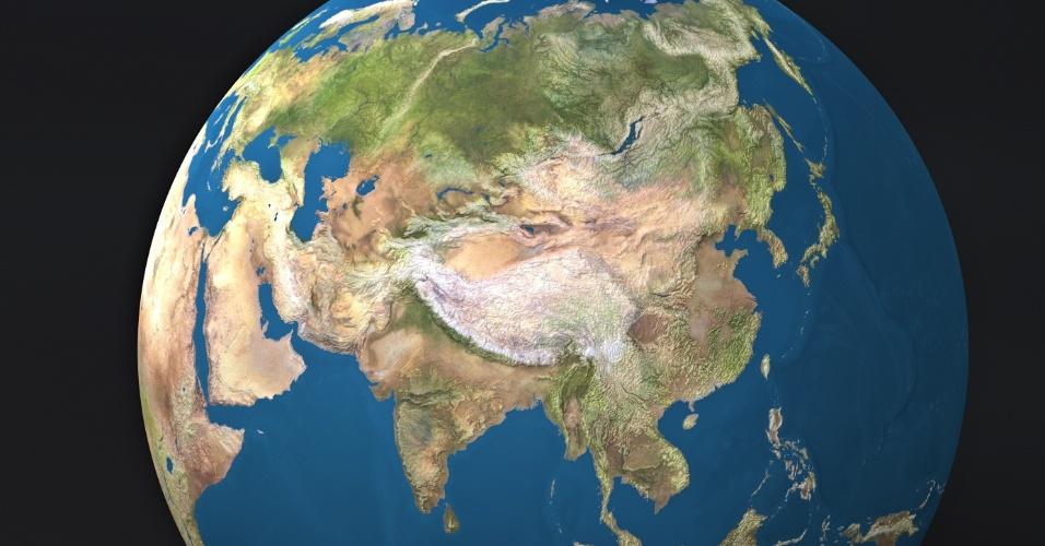 Terra, Ásia, continente asiático.