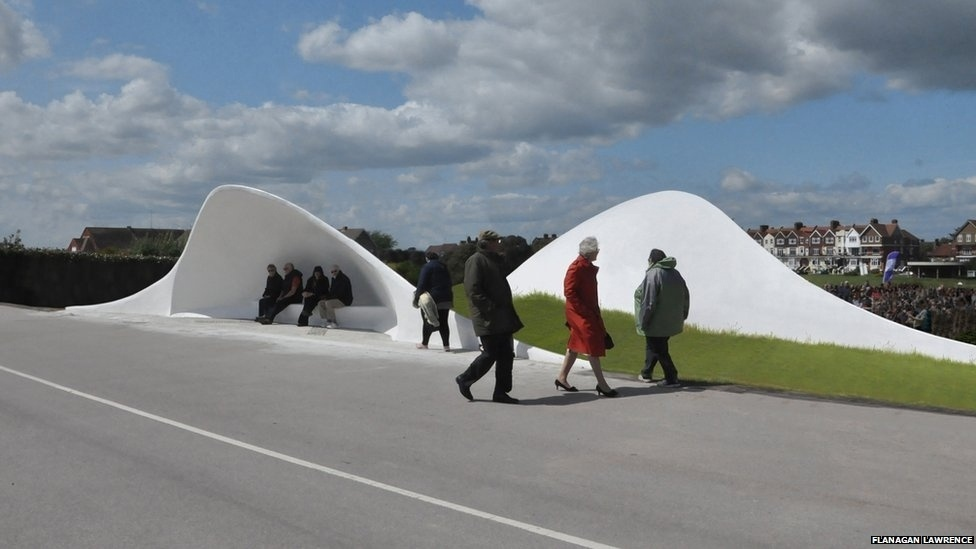 7.jul.2014 - Flanagan Lawrence criou estas conchas acústicas em Littlehampton, Inglaterra