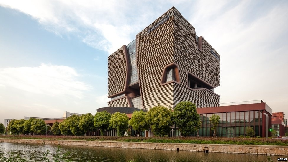 7.jul.2014 - O prédio da administração da Universidade Xi'an Jiaotong-Liverpool em Suzhou, China, é outro concorrente e foi apresentado pelo escritório Aedas