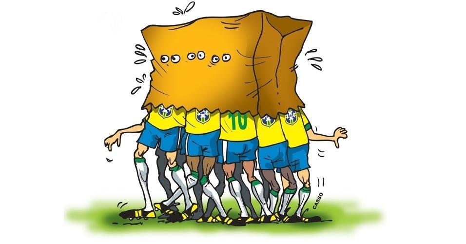 9.jul.2014 - Chargista Casso destaca a derrota da seleção brasileira na Copa do Mundo