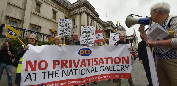 Funcionários da National Gallery já haviam entrado em greve por melhores condições em 2014 - Toby Melville/ Reuters