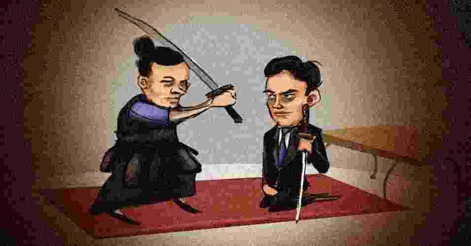 Samurai e empreendedor lições para executivo ou para empresário - Arte UOL