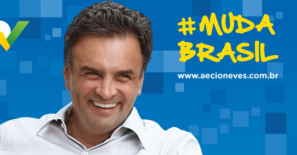 """15.jul.2014 - O candidato do PSDB à Presidência da República, Aécio Neves, lançou na tarde desta terça-feira (15) seu site oficial. A frase de apresentação do sítio é """"bem vindo à mudança"""" e o mote principal é promover a biografia do senador mineiro"""