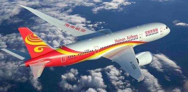Passageiro causou confusão em voo da Hainan Airlines - Divulgação