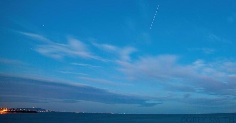 A passagem da ISS por Mornington, na Austrália, foi registrada por Corey Smith