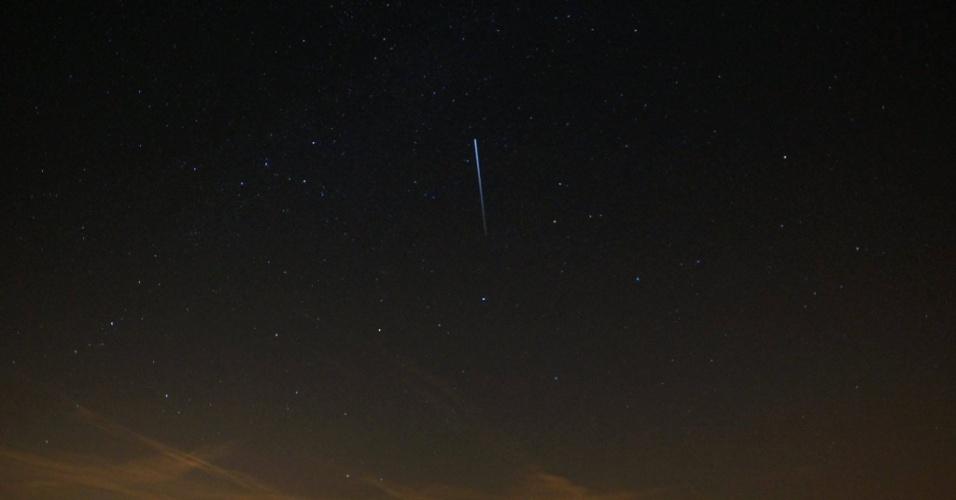 O internauta Michael Bell registrou a passagem da ISS na província da Holanda do Norte, na Holanda
