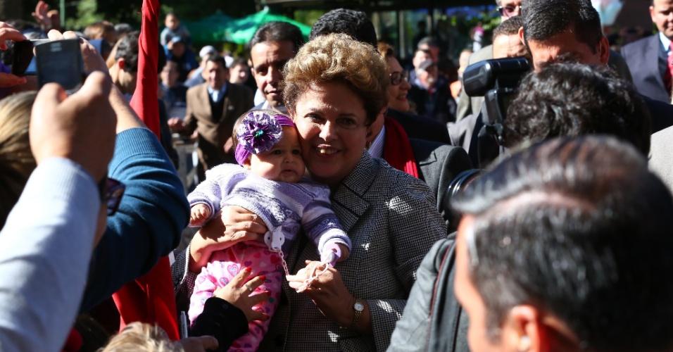 20.jul.2014 - A presidente Dilma Rousseff garantiu ajuda de R$ 40 milhões para reconstrução e plano para avaliação de moradias em margens de rios no Rio Grande do Sul