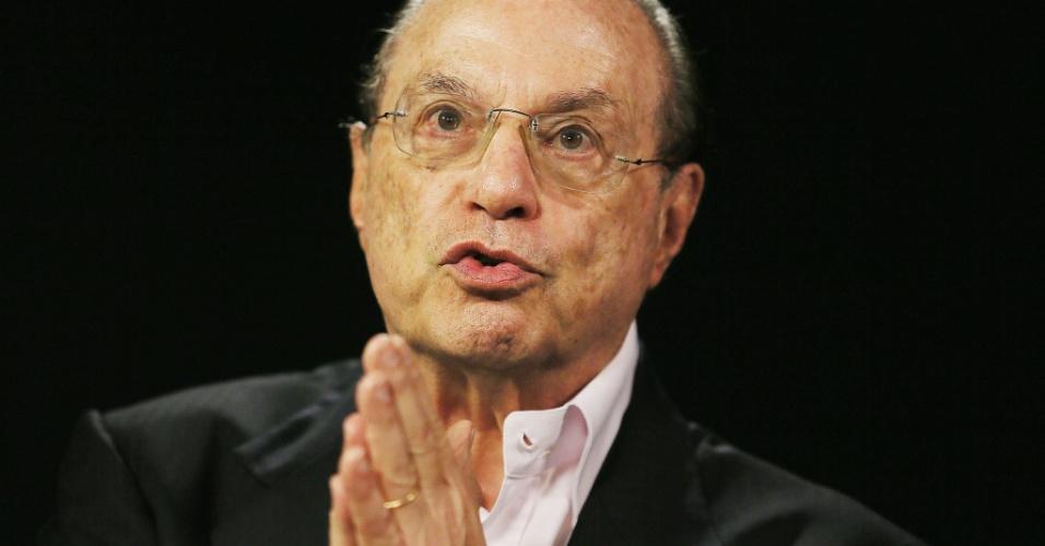 Deputado federal, Paulo Maluf (PP-SP), concedeu entrevista ao UOL e à Folha em 22.jul.2014. A gravação ocorreu no estúdio do UOL em São Paulo.