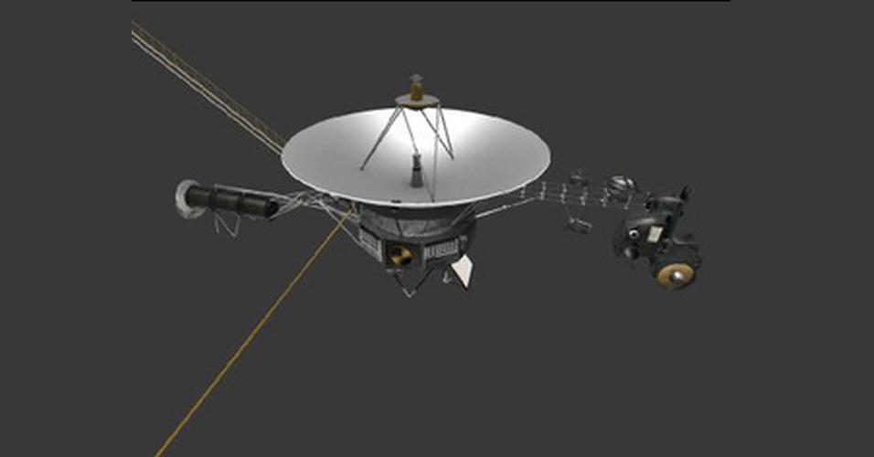 A agência espacial Nasa disponibilizou uma série de modelos para serem criados em impressoras 3D gratuitamente. Entre os objetos que podem ser impressos estão superfícies de planetas e instalações que foram lançadas ao espaço pelo órgão, como satélites. Na imagem, sonda espacial Voyager