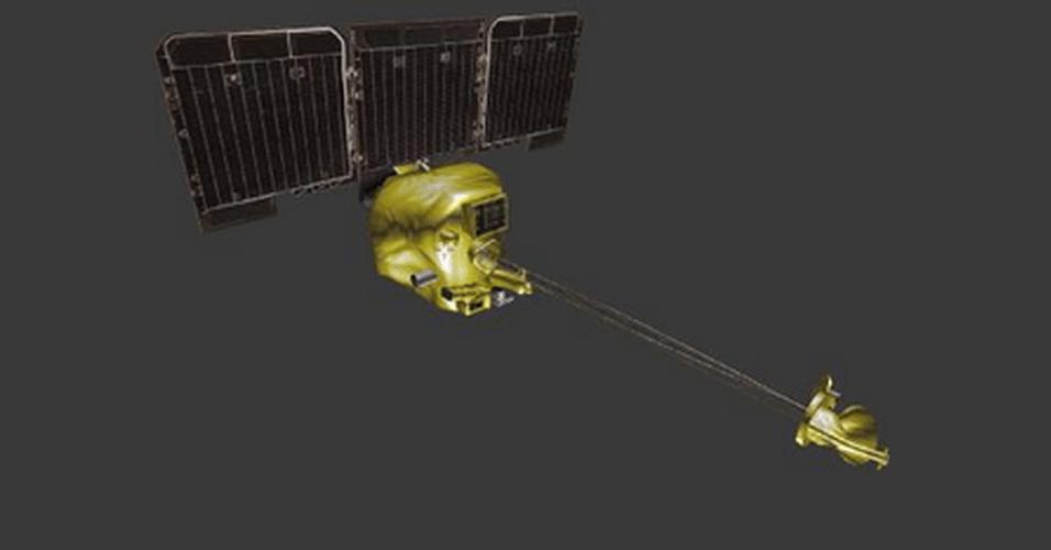 A agência espacial Nasa disponibilizou uma série de modelos para serem criados em impressoras 3D gratuitamente. Entre os objetos que podem ser impressos estão superfícies de planetas e instalações que foram lançadas ao espaço pelo órgão, como satélites. Na imagem, sonda espacial Mars Odyssey, lançada em 2001