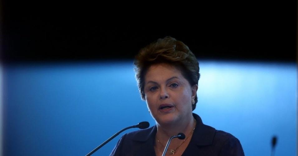 30.jul.2014 - A presidente Dilma Rousseff (PT), candidata à reeleição, expôs nesta quarta-feira os planos para o setor industrial organizado em um evento organizado pela CNI (Confederação Nacional da Indústria), em Brasília. Chamado de 'Diálogo com os candidatos', a CNI ouviu, separadamente, os principais candidatos à presidência do país