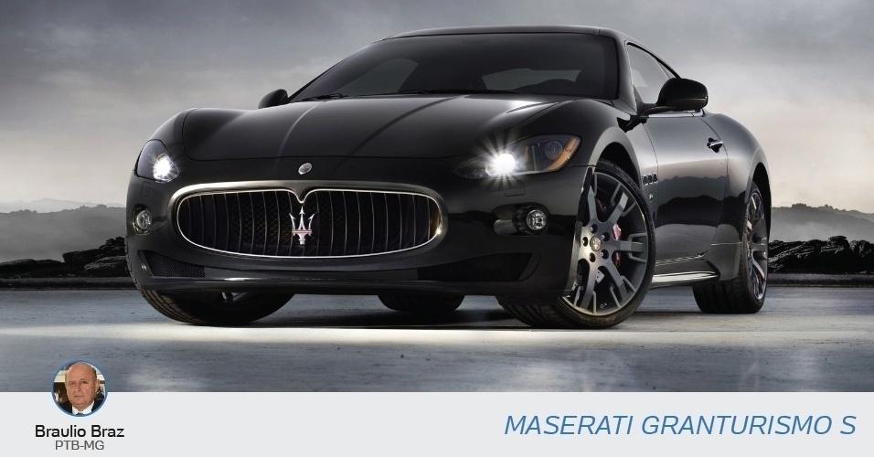 Braulio Braz (PTB-MG) eclarou à Justiça Eleitoral uma Maserati Granturismo S, no valor de R$580.382,3.