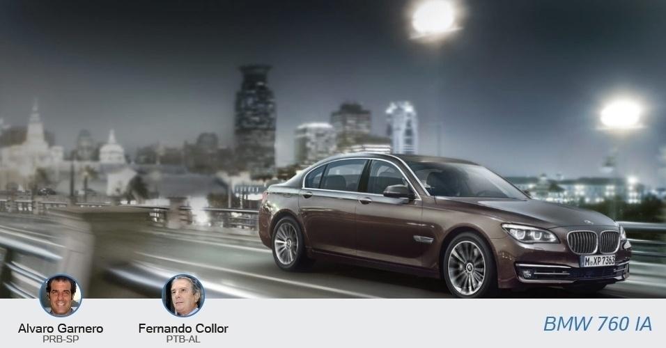 Fernando Collor (PTB-AL) e Alvaro Garnero (PRB-SP) tem o mesmo carro: o BMW 760 iA