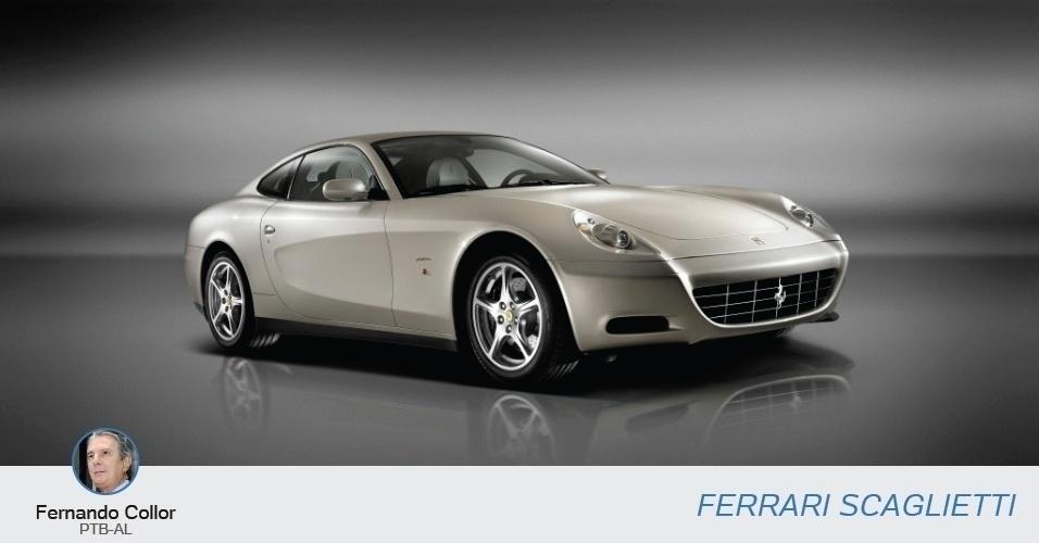 Fernando Collor (PTB-AL) tem uma coleção com vários carros de luxo. Um deles é uma Ferrari Scaglieti